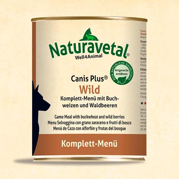 Menú complet Naturavetal Canis Plus Caça
