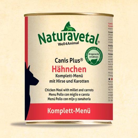 Menú complet Naturavetal Canis Plus Pollastre